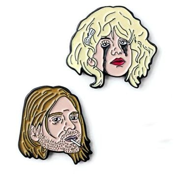 Kurt & Courtney Pin Set