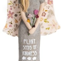 Plant seeds of kindness, grow a garden of love Angle Figurine
