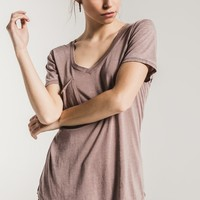 Z Supply The Pocket Tee -Taupe Grey
