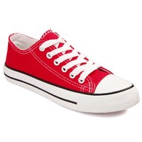 Preppy Women's Canvas Shoes With Lace-Up and Solid Color Design