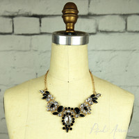 Candy Crush Vintage Glam Necklace (Black)