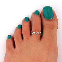 Dolphin toe ring Sterling Silver toe ring Adjustable dolphin toe Midi Ring (T- 41) knuckle ring