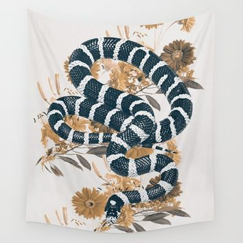 SNAKE Wall Tapestry by dada22