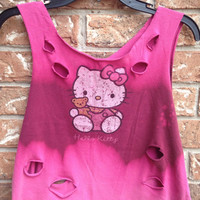 Hello kitty cropped summer shirt