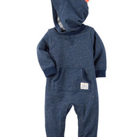 Hooded French Terry Jumpsuit
