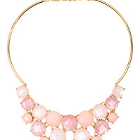 Kate Spade Smell The Roses Bib Necklace Light Pink Multi ONE
