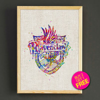Ravenclaw Quote Watercolor Art Print Harry Potter Poster House Wear Wall Decor Gift Linen Print - Harry Potter - Buy 2 Get 1 FREE - 84s2g
