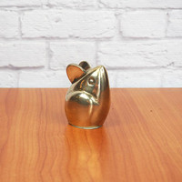 Vintage Brass Mouse Figurine or Paperweight