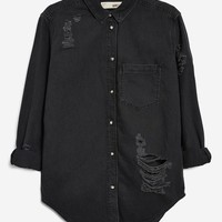 Oversized Denim Shirt | Topshop