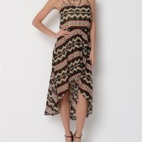 Coveted Clothing Geometric Hi-Low Dress- Made in USA - The Dress Shop - Modnique.com