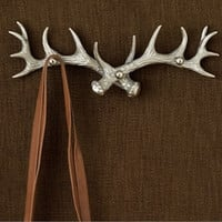 Antler Three Arm Coat Hook 16-in - Brushed Aluminum