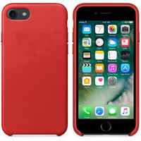Official Original PU Leather Case for iPhone 7 7Plus Plating Metal Button Cover for iPhone7 with Logo Retail Box Brand New -0315
