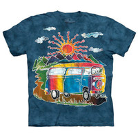 BATIK TOUR BUS The Mountain Hippie Volkswagen VW Camper Van Retro T-Shirt S-3XL