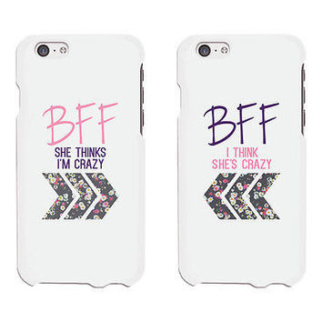 Floral BFF Phone Cases - iphone 4 5 5C 6 6+ / Galaxy S3 S4 S5 / HTC M8 / LG G3