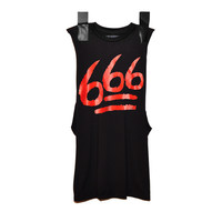 666 SLEEVELESS BLACK