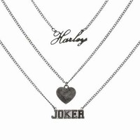 Harley Quinn And The Joker Triple Chain Necklace