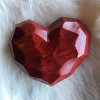 Red Soapstone Hearts