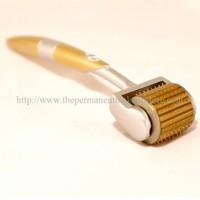 ZGTS Professional Luxury Gold Plated Titanium Alloy Needles Roller Treating Acne Scars, Skin, Hair Loss, Wrinkles, Blackheads, Lines, Sun Damaged, Ageing- Daily Care Product, Reducing Blemishes Scars Potholes Cellulite Stretchmarks Uplifting Whitening Rege