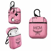 MCM AIRPODS CASE - PINK