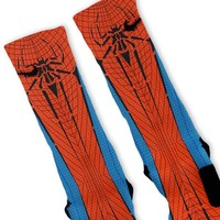 Spiderman Custom Nike Elite Socks