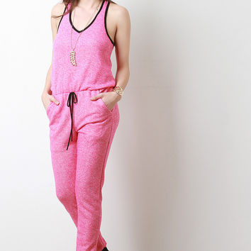 Terry Cloth Jogger Jumpsuit
