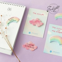 2pcs/lot The Color Of The Rainbow Cloud Memo Pad Sticky Notes Memo Notebook Stationery Papelaria Escolar School Supplies
