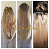 Rosa Hair Fusion Pre Bonded I U Flat Tip Brazilian Straight Virgin Keratin Remy Human Hair Extensions 50 Strands 24 Colors