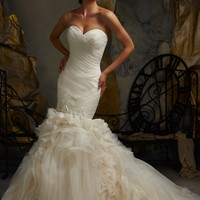 Mori Lee Fit and Flare Strapless Sweetheart Wedding Dress