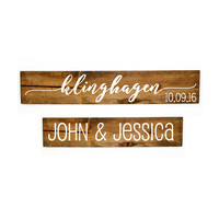 Custom wedding date Wood Sign Set - Bedroom Decor, Wall Decor, Reclaimed Barn wood, Wood Home Decor, Gift for Her, Wedding Decor