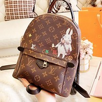 Inseva LV Louis Vuitton High Quality Woman Leather Travel Bookbag Shoulder Bag Backpack