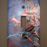 Comic Book Thor light switch cover