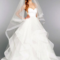 2017 New White or Ivory Sexy A-line Taffeta Organza Wedding Dress Bridal Gown Custom Made Size Free shipping