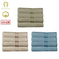 470GSM Set of 4 Egyptian Cotton Bath Sheets 94 x 162 cm by Ramesses