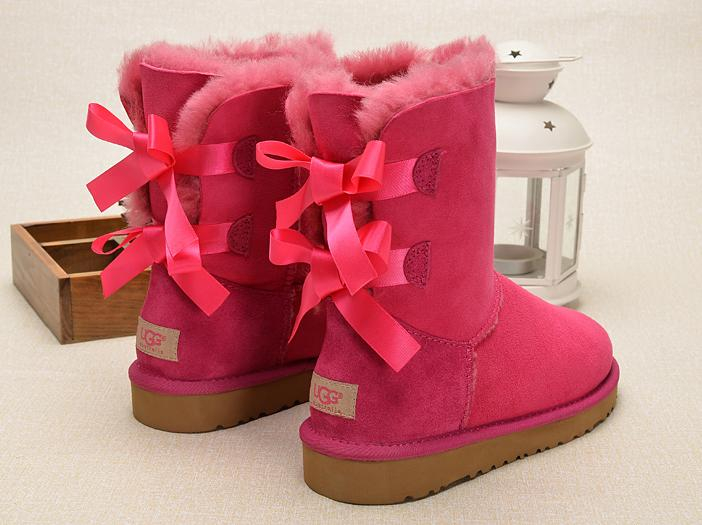 Image of UGG Women Bow Wool Snow Boots Shoes