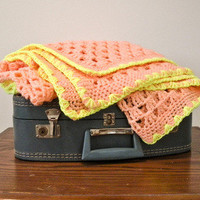 Crochet Granny Square Blanket - Neon from Five Sixteenths