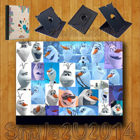 iPad Air case,Olaf,Frozen,iPad Air Leather Case,can stand up and rotate freely,iPad Air leather Cover,custom image accept,full protection