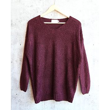 Final Sale - Dreamers - Lightweight Pullover in Burgundy
