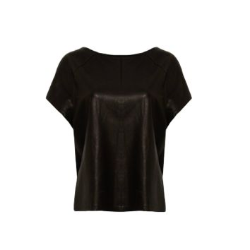Pleather & Sheer T-shirt