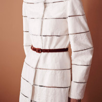 Broadtail Coat With Lace Insets | Moda Operandi