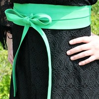 mint wrap belt by southern fried chics