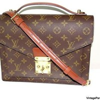Vintage Louis Vuitton Monceau Cross Body Bag