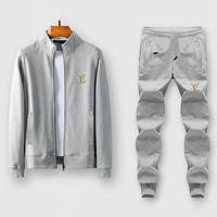 Boys & Men Casual Edgy Cardigan Jacket Coat Pants Trousers Set Two-Piece
