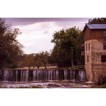 Falling Down, Summer's Mill in Texas : An Abandoned to Grace Wall Art Print