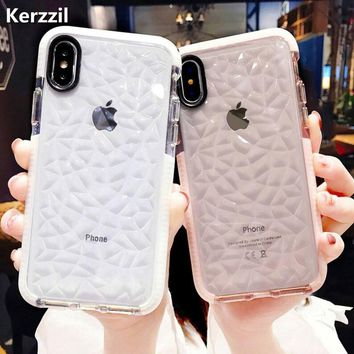 Kerzzil Luxury Jelly Phone Case For iPhone X XR XS Max Soft TPU Transparent Case Shockproof Clear Cover For iPhone 7 8 6 6s Plus