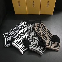 FENDI Woman Men Fashion Socks Stockings