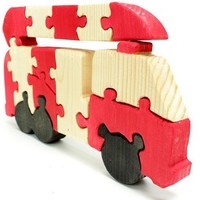 Fire Truck Puzzle and Children's Room Decor