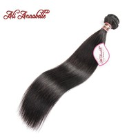 ALI ANNABELLE HAIR Peruvian Straight Human Hair 100% Remy Hair Weave Bundles 1/3/4 Pieces 10 to 28 inch Natural Color