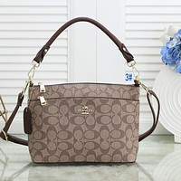 Onewel COACH Women Bag Shoulder Bag Print Coffee