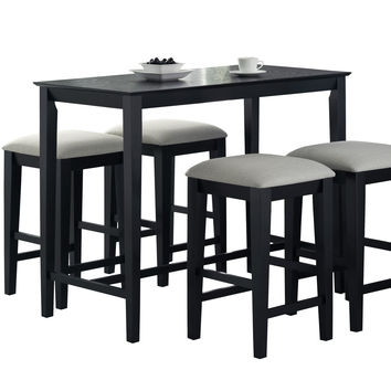 """Black Grain 24""""X 48"""" Counter Height Kitchen Table"""