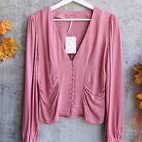 Free People - Maise Top - Mauve / Rose